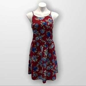 CHARMING CHARLIE Sleeveless Red Floral Sundress L